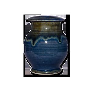 Blue Ceramic Urn