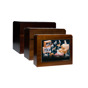 Wooden Picture Urns